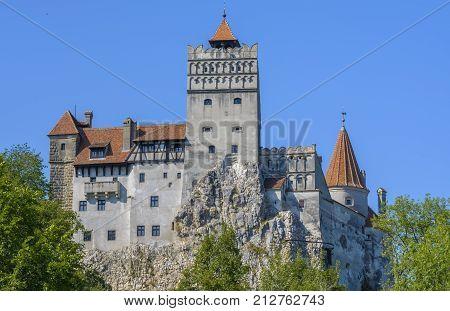 Dracula's Bran Castle from Transylvania Romania. Bran Castle known as Dracula Castle one of the most famous castles of Romania.