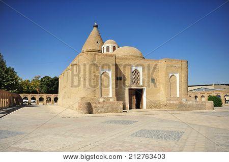 Bukhara: the Chashma Ayub Mausoleum old building
