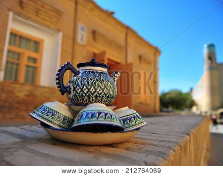 Khiva: view of the hand made souvenirs