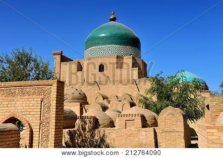 Khiva: the old mosque and town fort