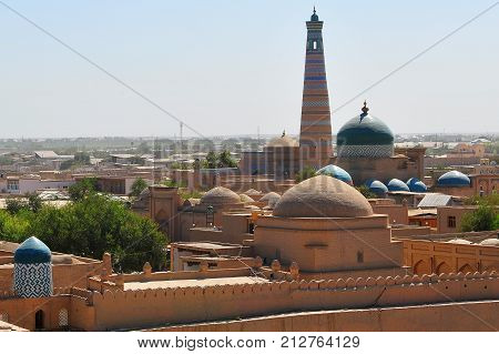 Khiva: the old town domes and minarets