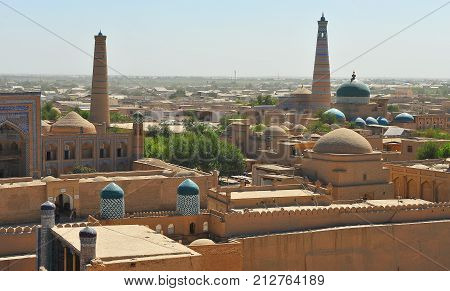 Khiva: view of the domes and towers