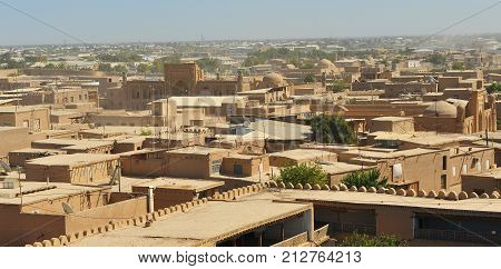 Khiva: panorama of the old historical town