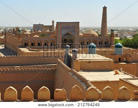 Khiva: magic view of an old town