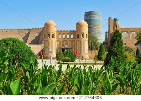 Khiva: view of the medieval old town