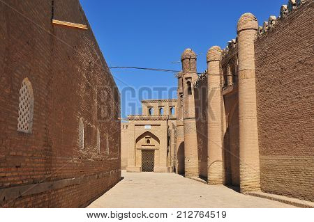 Khiva: in the street of old town