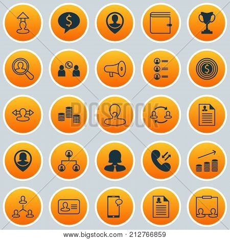 Hr Icons Set. Collection Of Messaging, Deal, Reverse And Other Elements