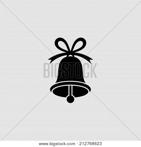Christmas bell flat vector icon. Bell flat vector icon