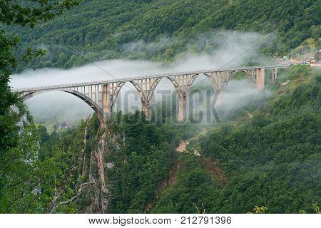 Durdevica Bridge over Tara Canyon in Montenegro