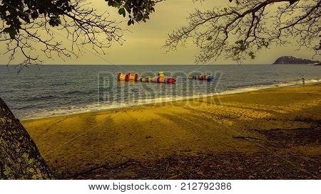 Australia Trinity Beach Cairns beach in the evening