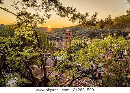 Moustiers Sainte Marie At Sunset