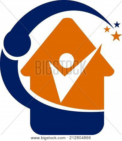 Home Success Life Coaching Logo Design Template Vector