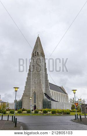 Hallgrimskirkja Cathedral In Reykjavík, Iceland