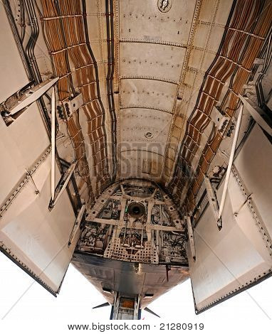 Bomb bay in moder air force strategic bomber poster
