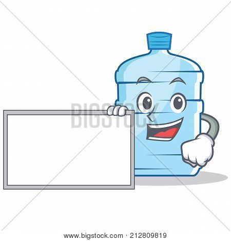 With board gallon character cartoon style vector illustration