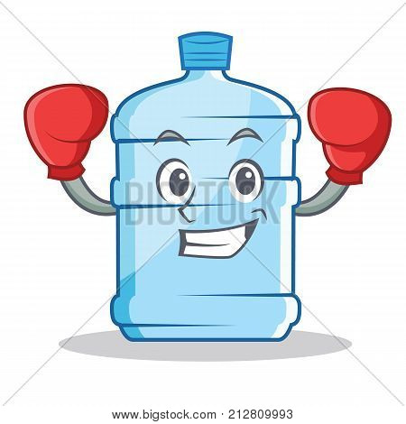 Boxing gallon character cartoon style vector illustration