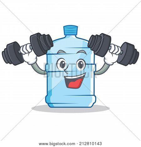Fitness gallon character cartoon style vector illustration