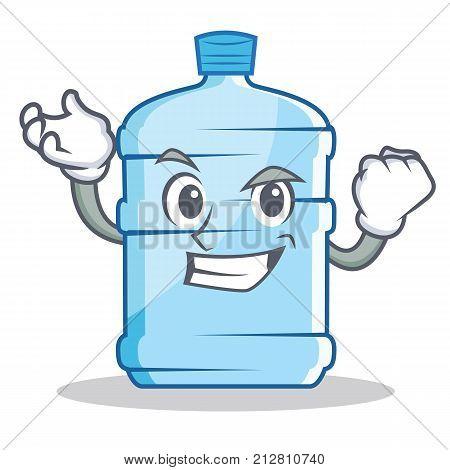 Successful gallon character cartoon style vector illustration