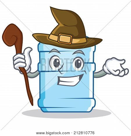 Witch gallon character cartoon style vector illustration