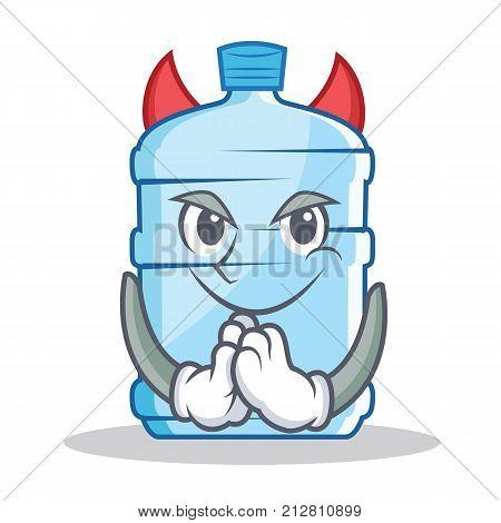 Devil gallon character cartoon style vector illustration
