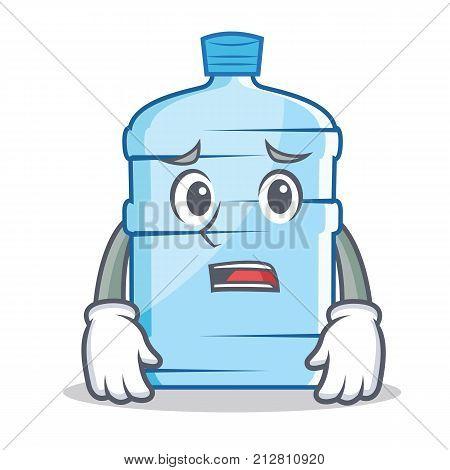 Afraid gallon character cartoon style vector illustration