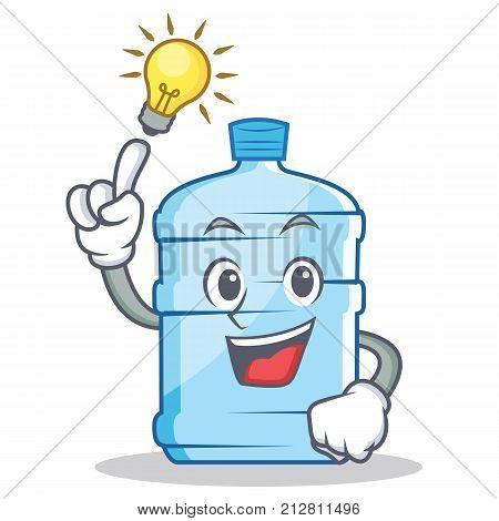 Have an idea gallon character cartoon style vector illustration