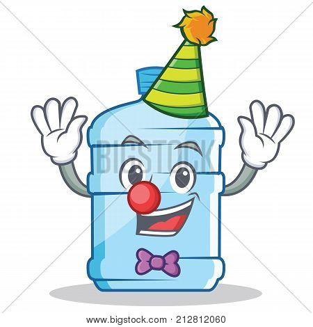 Clown gallon character cartoon style vector illustration