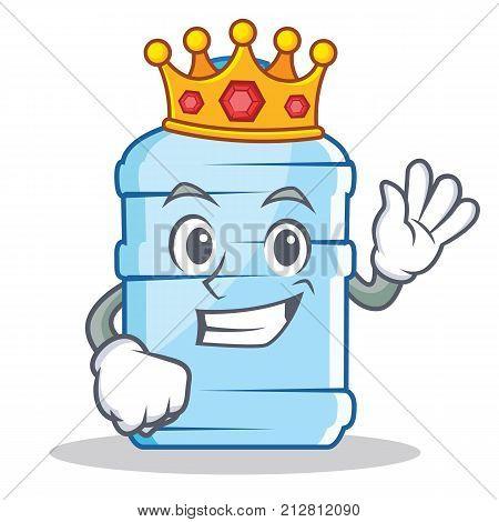 King gallon character cartoon style vector illustration