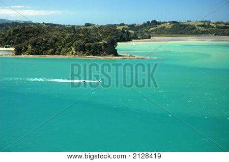 Marine Paradise - Green Sea, Blue Sky