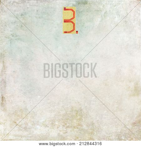 Numbered textured background image (Number 3)
