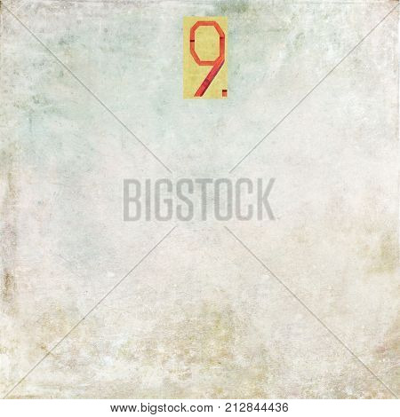 Numbered textured background image Number 9