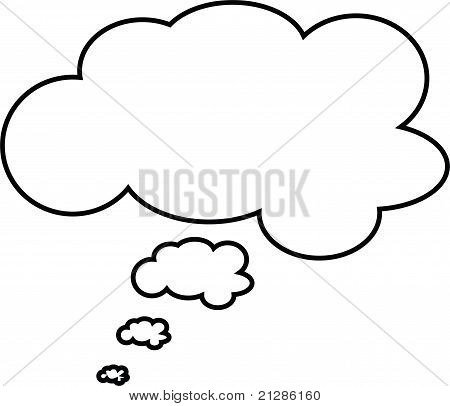 thought and speech bubbles - great for comics illustrations caption
