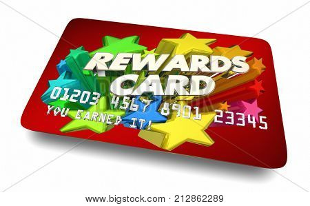 Rewards Card Credit Account Benefits Incentives 3d Illustration