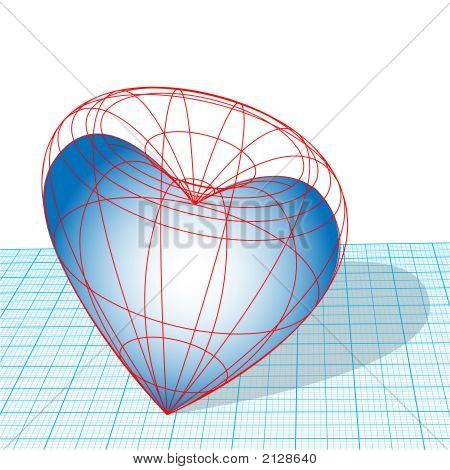 Designing Heart Wireframe Design