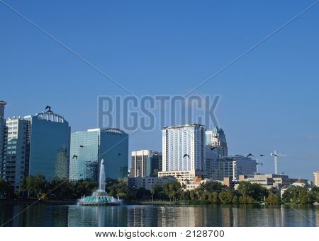 Downtown Orlando Florida Skyline With To More Right