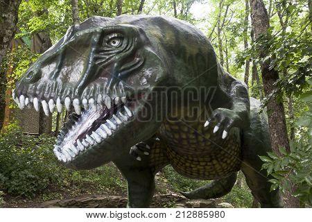 Gelendzhik, Krasnodar region, Russia - July 15, 2015: Jurassic Park in Safari park of the city Gelendzhik