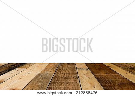 Pallets wooden floor texture with white background.