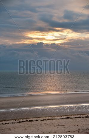 Interesting Clouds On Omaha Beach In Normandy France