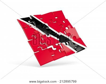 Puzzle Flag Of Trinidad And Tobago Isolated On White