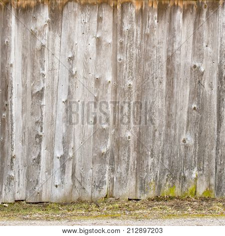 wooden pine plank wall, abandoned barn exterior texture background