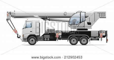 Truck Crane. Detailed illustration for your projects.