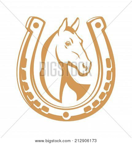 Horse emblem illustration for your projects .