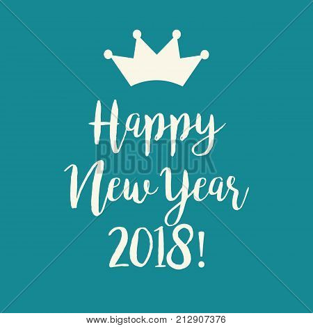 Blue Happy New Year 2018 Greeting Card