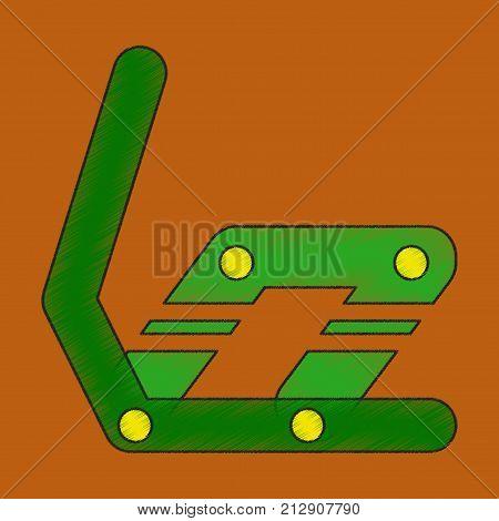 flat shading style icon Snowboard binding travel