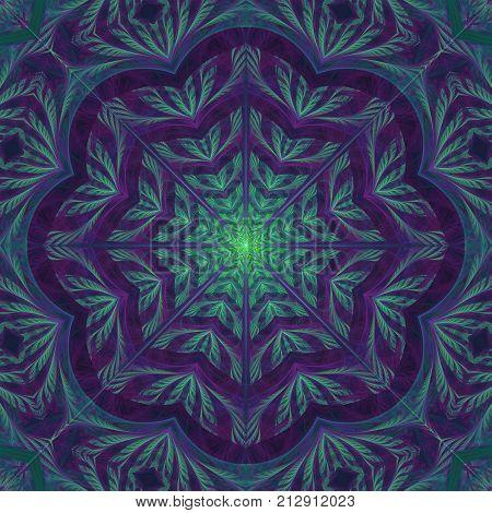 Flourish Fractal Mandala