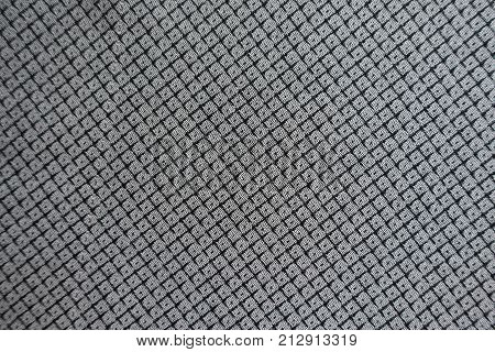 Dark gray viscose fabric with diamonds pattern