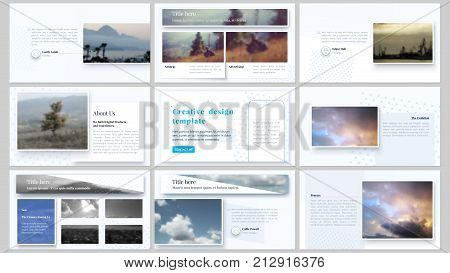 The minimalistic abstract vector illustration of editable layout of high definition presentation slides design business templates. Abstract style decoration for flyer, report, advertising, brochure