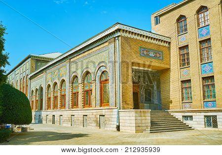 The Porch Of Brilliance Hall In Golestan, Tehran