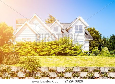 House for upper middle class during sunny day