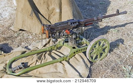the Old Machine Gun on a position